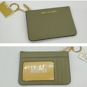 Michael Kors Small TZ Coinpouch wID Thyme